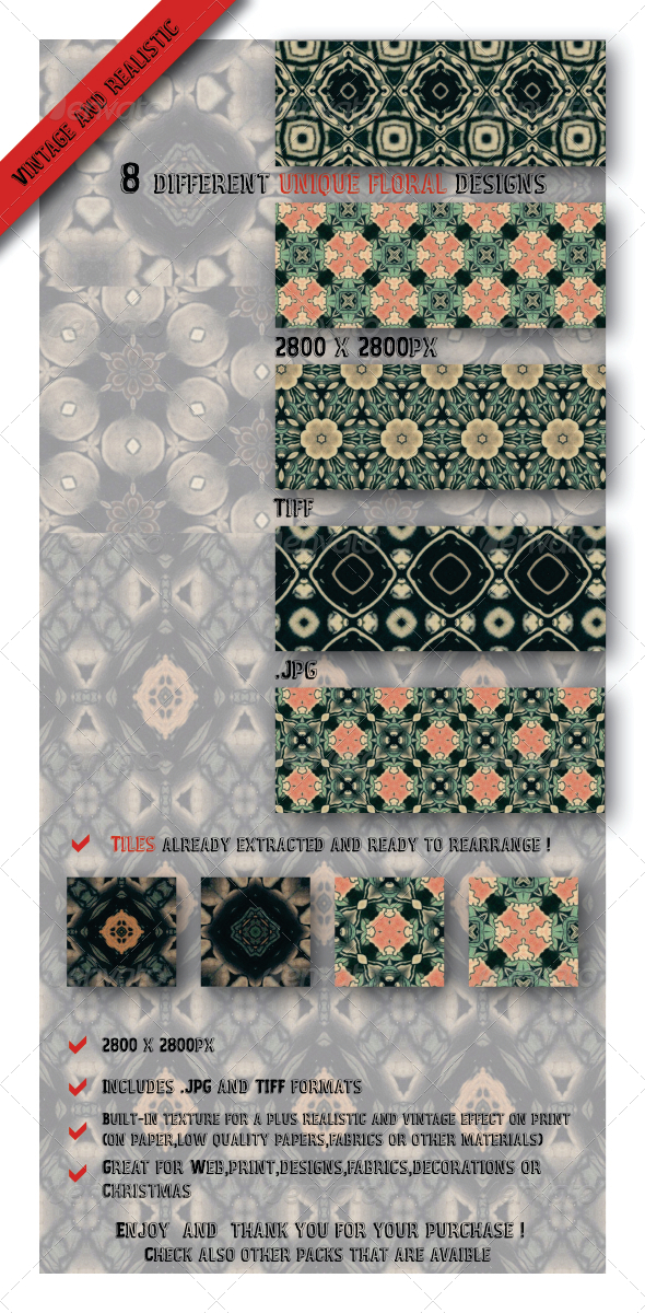 GraphicRiver 8 Unique Dark Black Decorative Paper Patterns 6584279