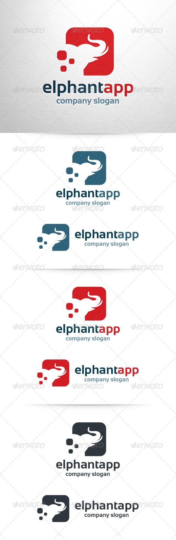 GraphicRiver Elephant App Logo Template 6584366