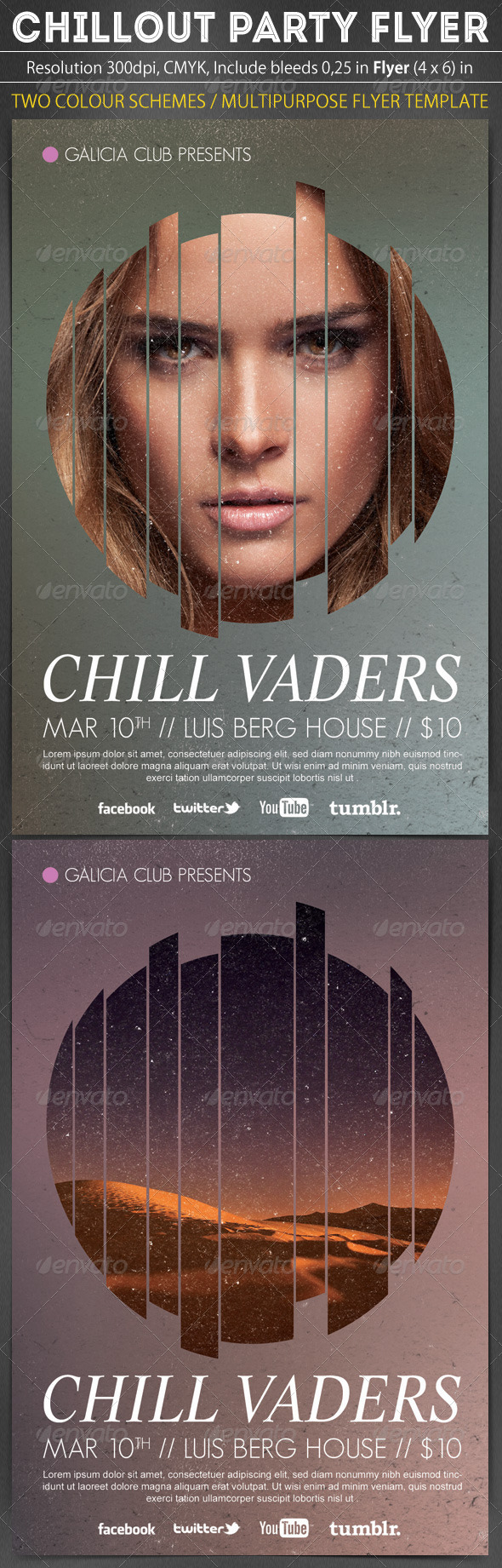 GraphicRiver Chillout Party Flyer Template 6584544
