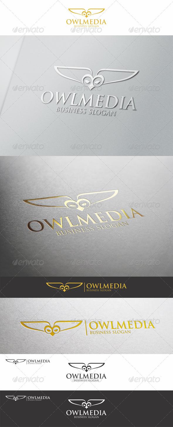 Owl Media Logo Template - Animals Logo Templates