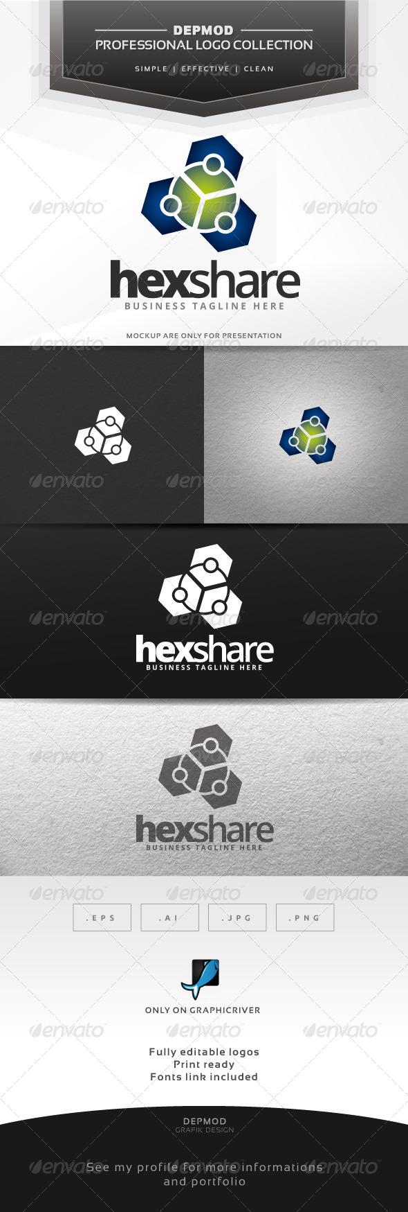 GraphicRiver Hex Share Logo 6584670
