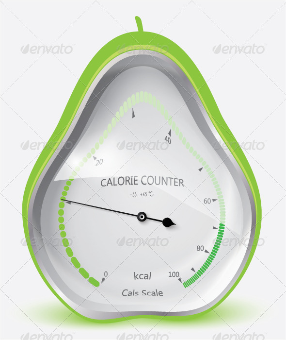 GraphicRiver Calorie Counter Pear 6584767