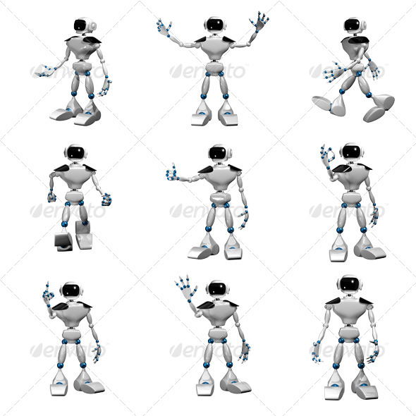 GraphicRiver White Robot 6584793