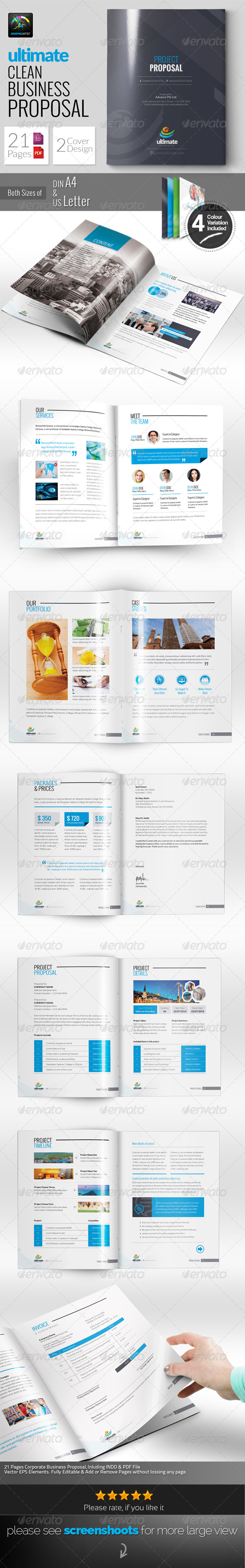 GraphicRiver Ultimate Clean Proposal 6584852