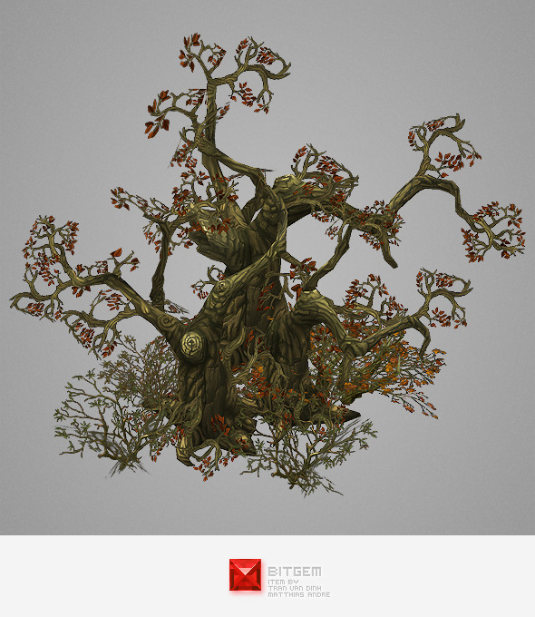 Low Poly Dead Tree Pack - 3DOcean Item for Sale