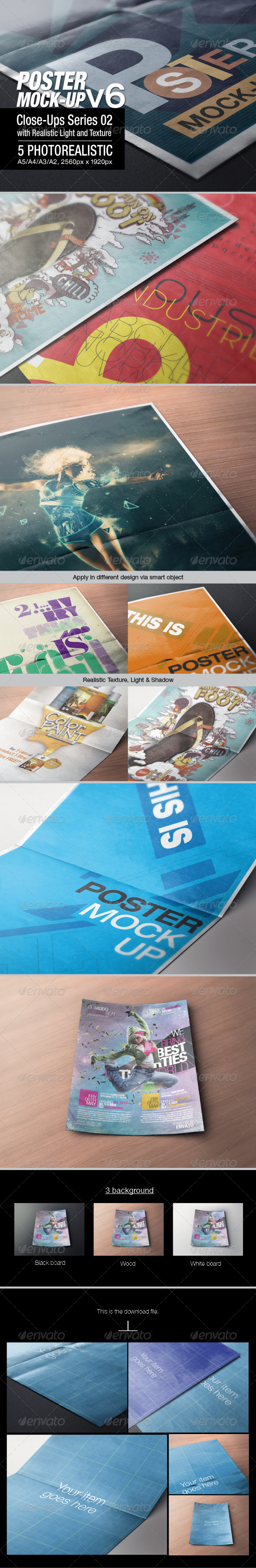 GraphicRiver Poster Mock-up v6 6585005