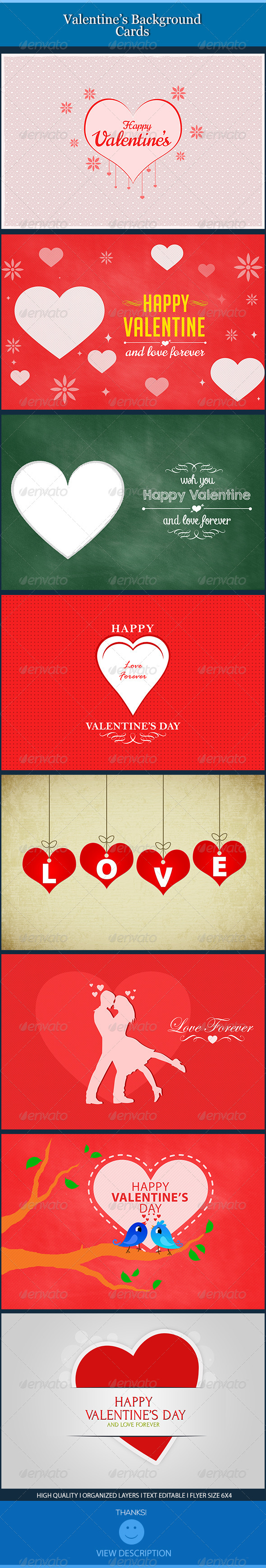 Valentine Backgrounds Cards