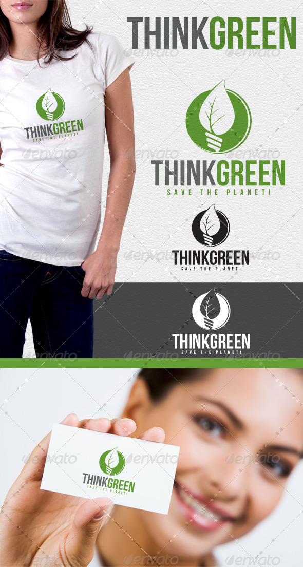 GraphicRiver Think Green Environmental Logo 6585188