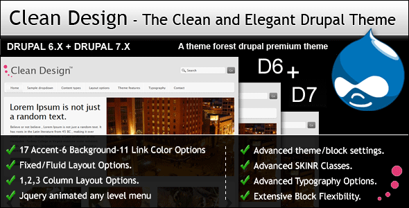 Clean Design - The Clean and Elegant Drupal Theme