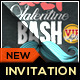 Valentine Mustache Bash Invitation & Ticket - GraphicRiver Item for Sale