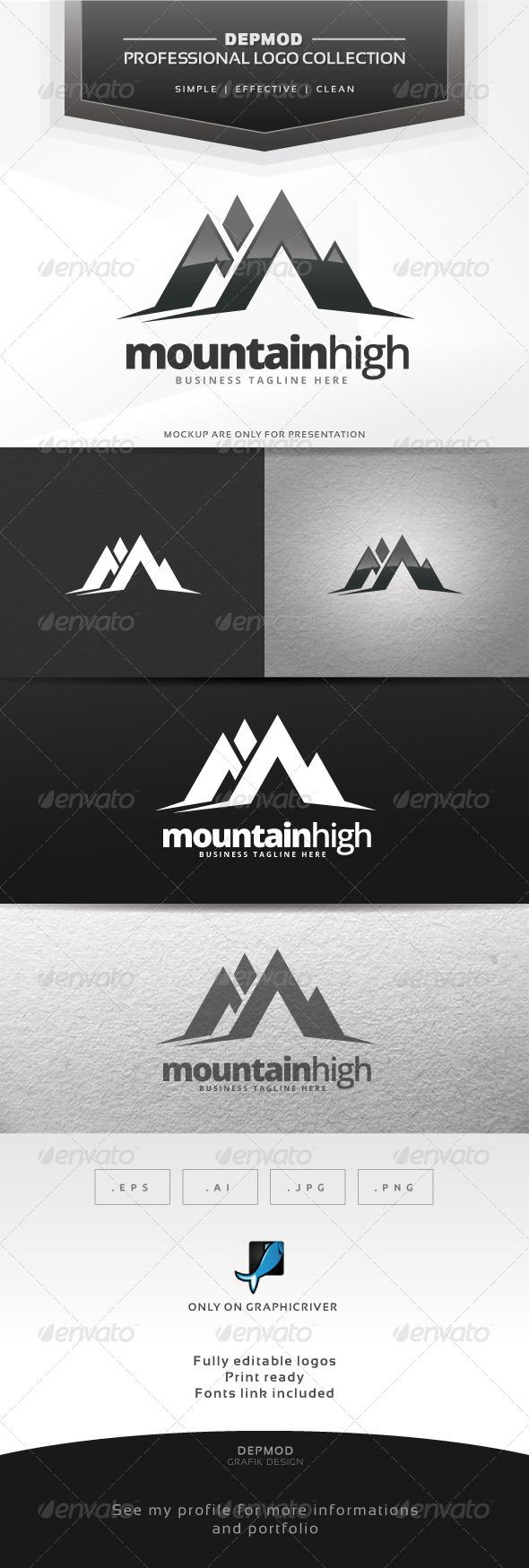 GraphicRiver Mountain High Logo 6585313