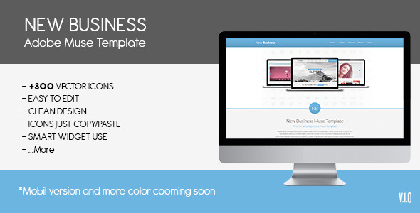 Parallax New Busines | Muse Template - Corporate Muse Templates