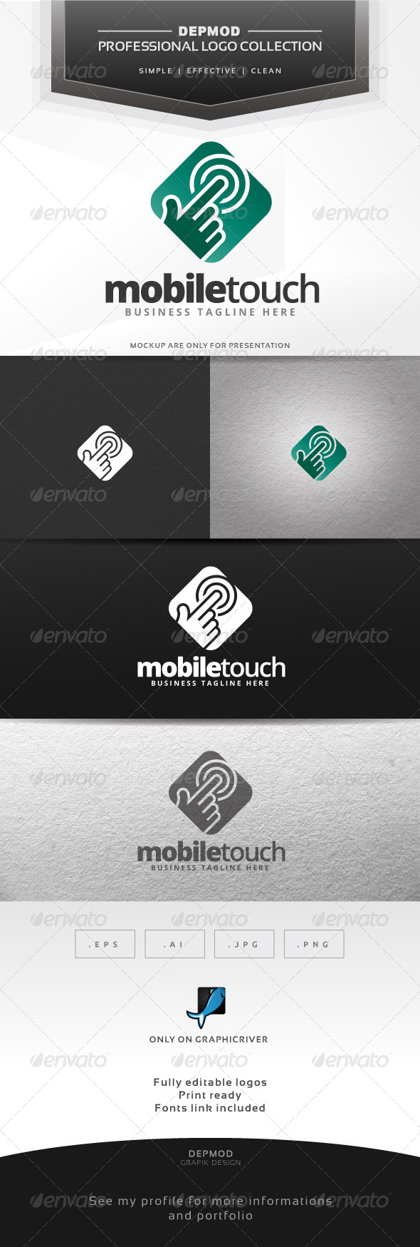 GraphicRiver Mobile Touch Logo 6585575
