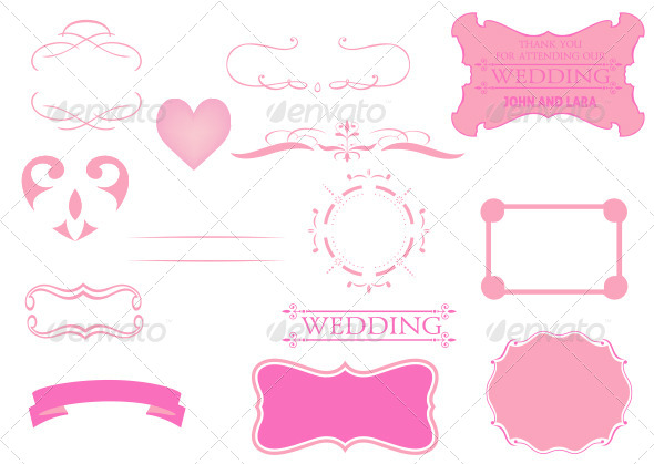 GraphicRiver Calligraphic and Vintage Wedding Graphics Set 6572648