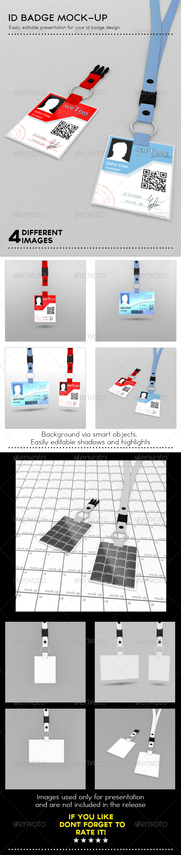 Id Card Mock Up Graphics, Designs & Templates from GraphicRiver