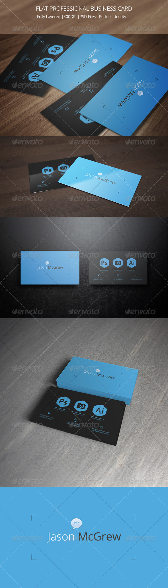 GraphicRiver Super Flat Metro Style Business Card 6585856
