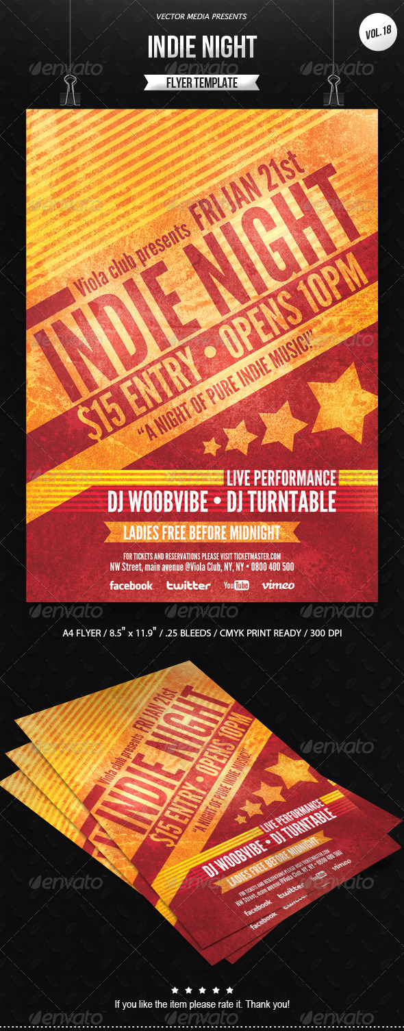 GraphicRiver Indie Night Flyer [Vol.18] 6586024
