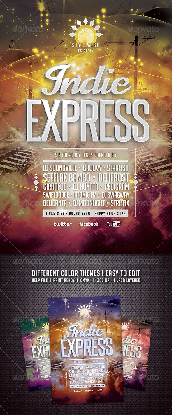 GraphicRiver Indie Express Flyer 6586425