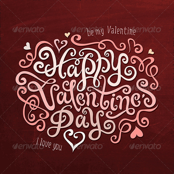 GraphicRiver Valentine s Day Greetings Hand Lettering 6578972