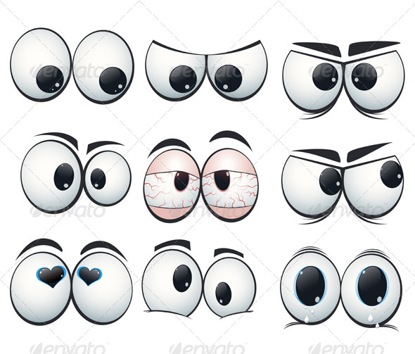 GraphicRiver Cartoon Expression Eyes with Different Views 6586462