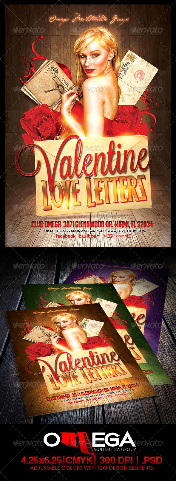 GraphicRiver Valentine Love Letters 6586464