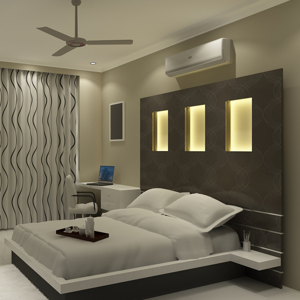 realistic bedroom interior 3d 3d models 3docean