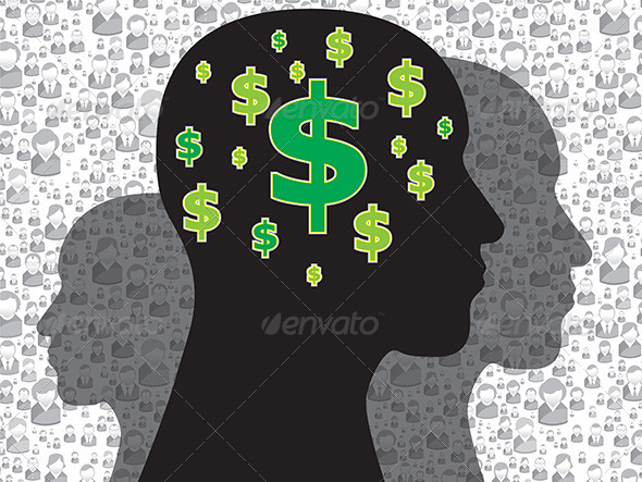 GraphicRiver Human Head with Money Symbol 6586748
