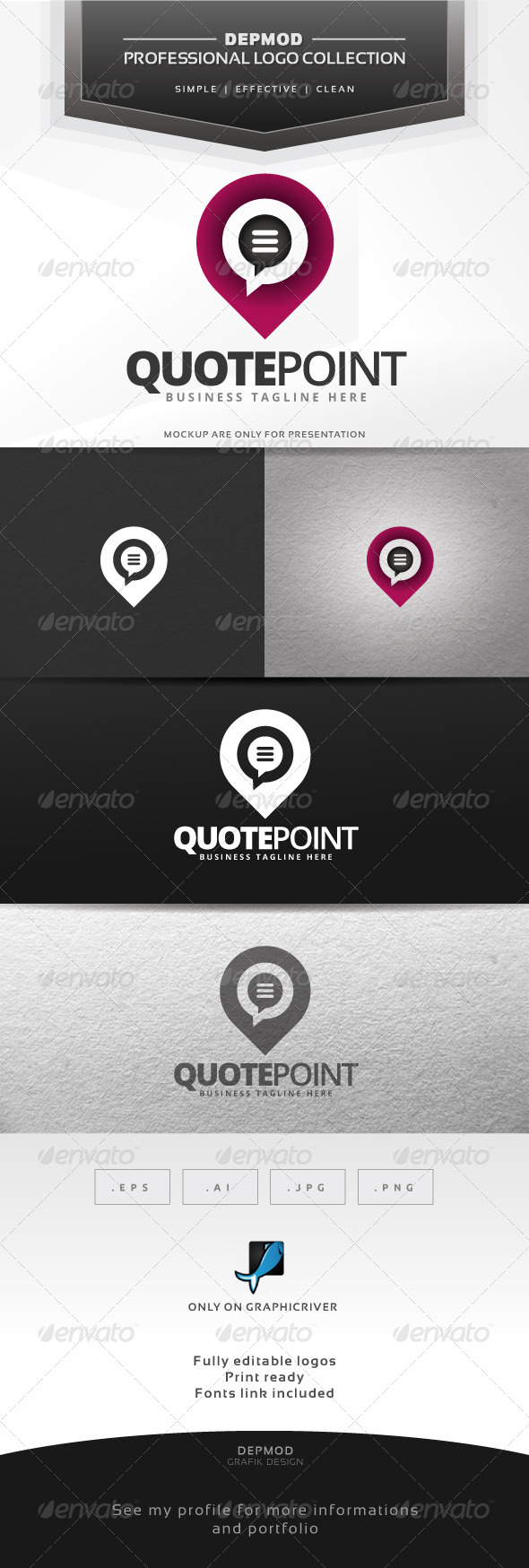GraphicRiver Quote Point Logo 6586800