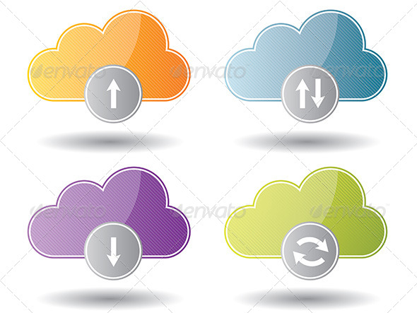 GraphicRiver Cloud Computing Icons 6586923