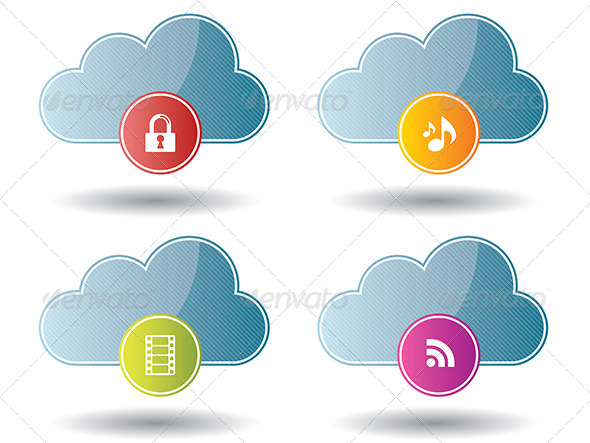 GraphicRiver Cloud Computing Icons 6586924