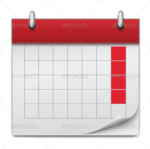 Calendar Icon Notebook Business of Planning