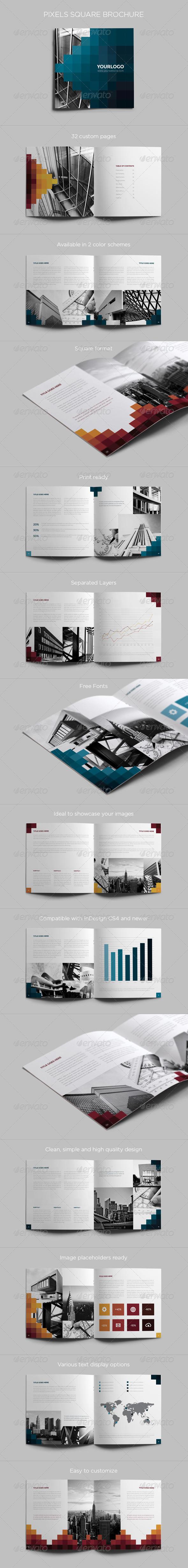 GraphicRiver Pixels Square Brochure 6586956