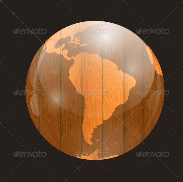 GraphicRiver Brown Boards World Map 6586979