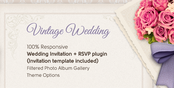 Vintage Wedding Theme - Wedding WordPress
