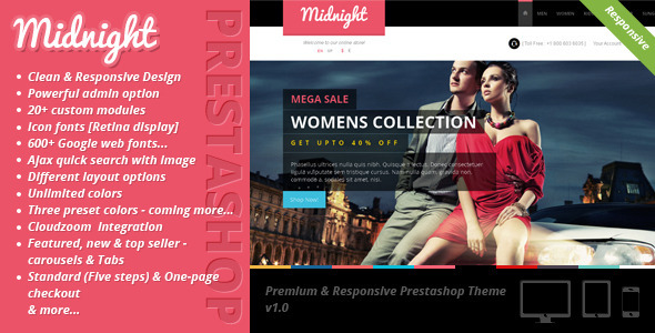 ThemeForest Midnight Premium & Responsive Prestashop Theme 6587079