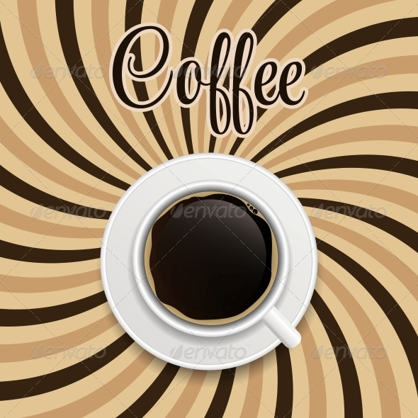 GraphicRiver Coffee Abstract Hypnotic Background 6587097