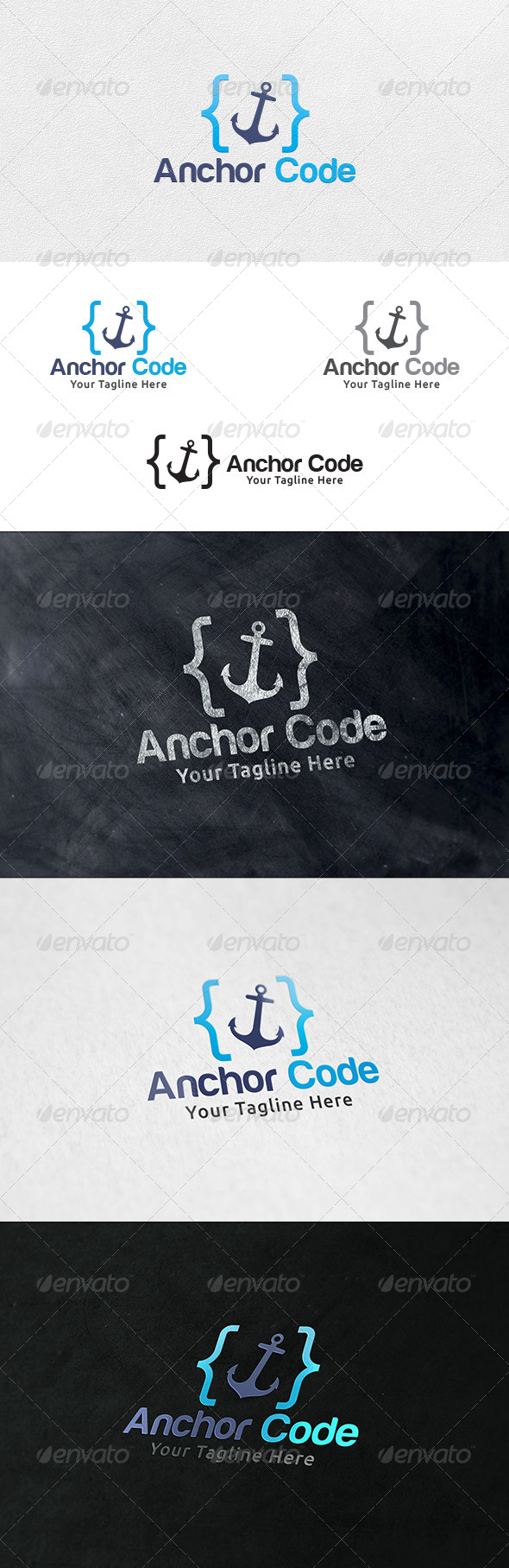 GraphicRiver Anchor Code Logo Template 6587321