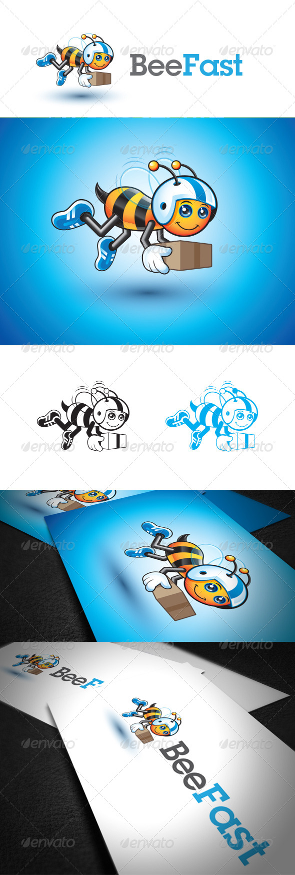 Fast Bee Logo Template - Animals Logo Templates