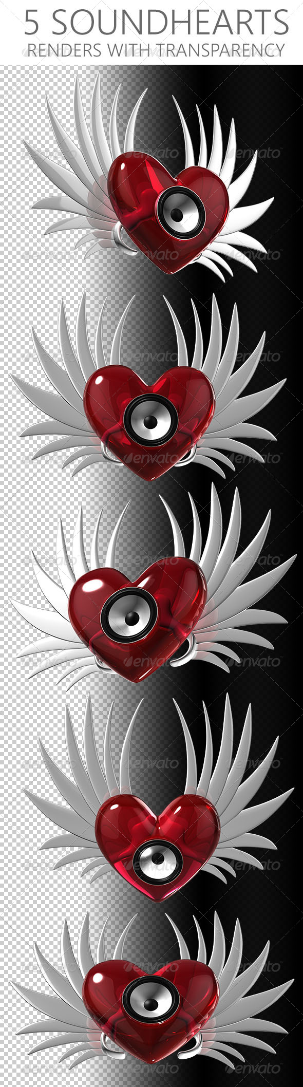 GraphicRiver Sound Hearts 6587686