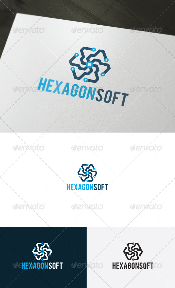 GraphicRiver Hexagon Soft Logo 6587690