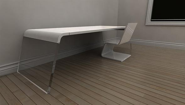 Arch Desk & Seat Concept - 3DOcean Item for Sale