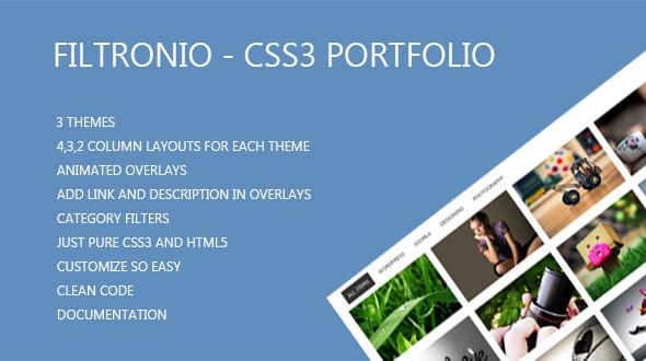 CodeCanyon Filtronio CSS3 Portfolio 6588280