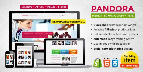 Pandora — Responsive Shopify HTML5 Theme - Shopping Shopify