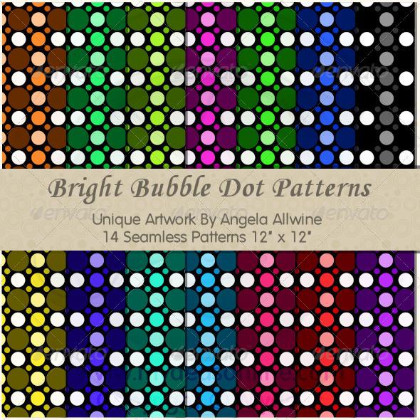GraphicRiver Bright Bubble Dots Pattern Set 6588488
