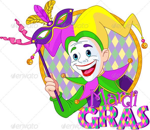 GraphicRiver Mardi Gras Jester 6588641