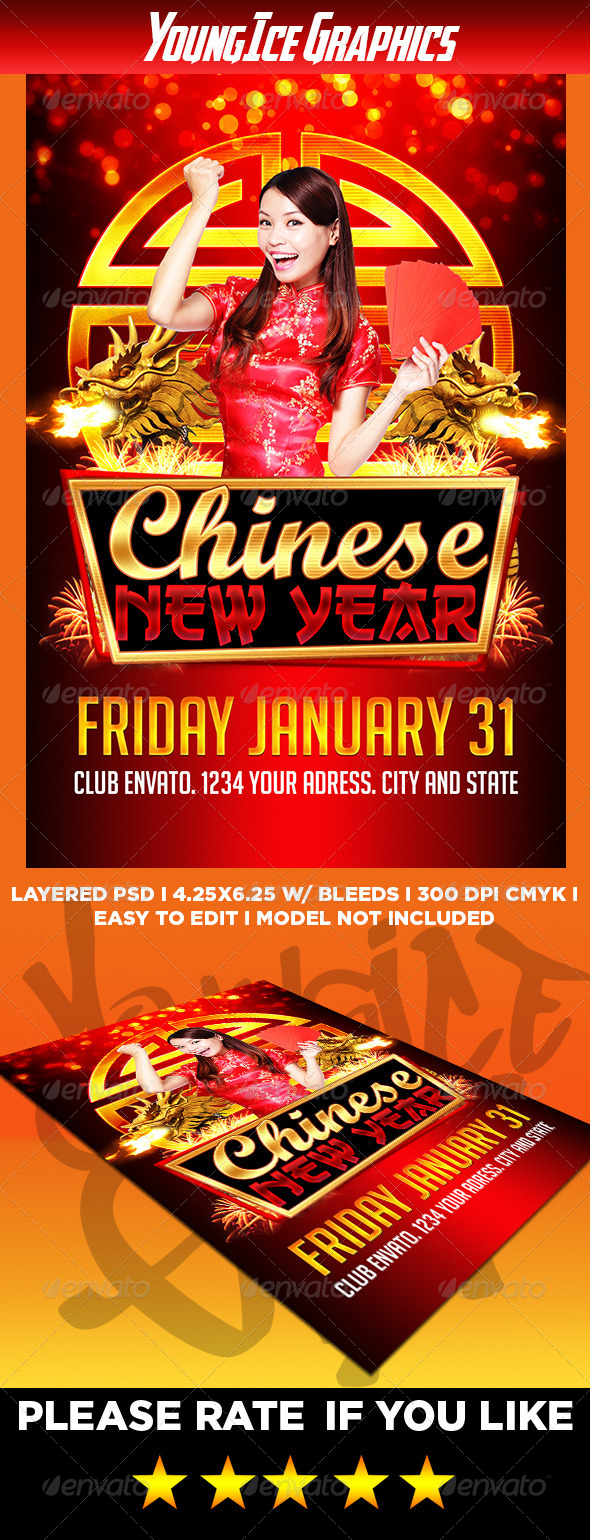 GraphicRiver Chinese New Year Flyer 6588660
