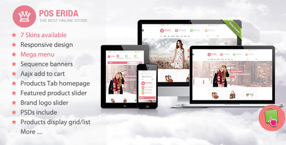 ThemeForest Erida Responsive Prestashop Theme 6588683