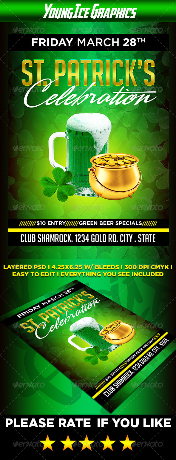 GraphicRiver St Patricks Celebration Flyer 6588804