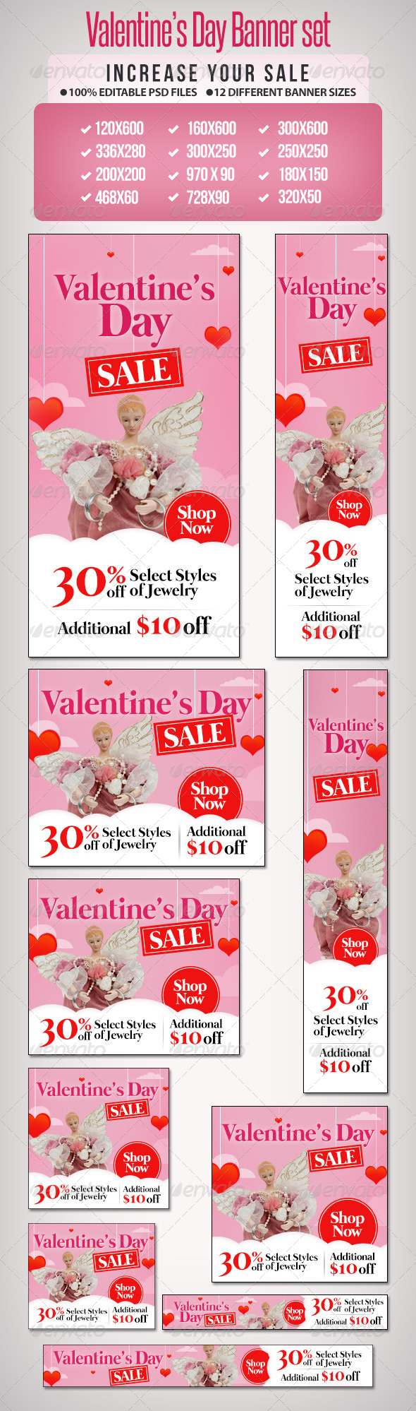 Valentines Day Sale Banner Set 2