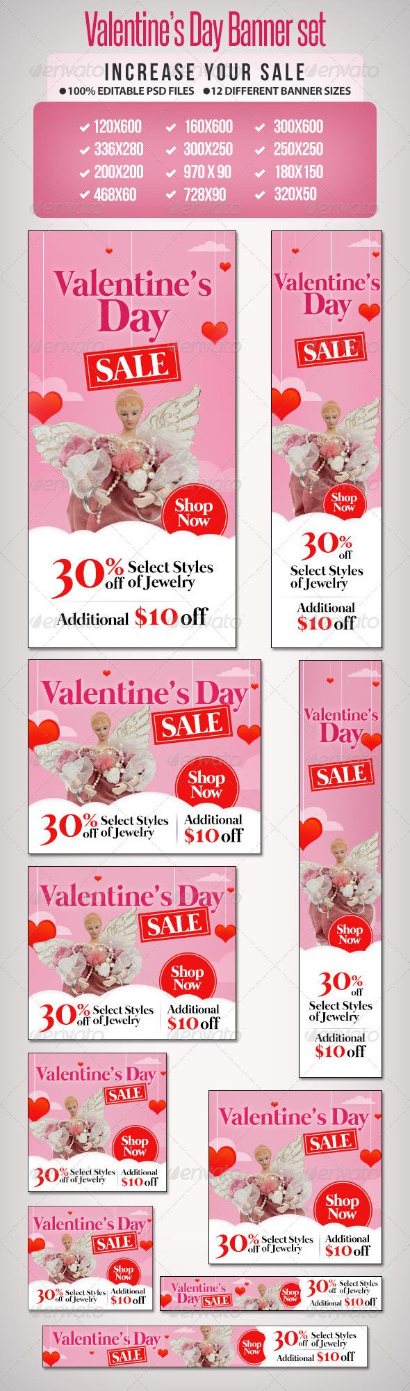 GraphicRiver Valentines Day Sale Banner Set 2 6588969